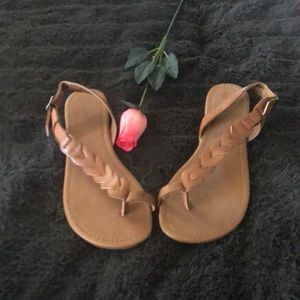 NWOT leather sandals 8.5